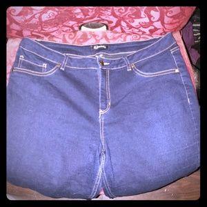 Dark Wash Blue Jeans